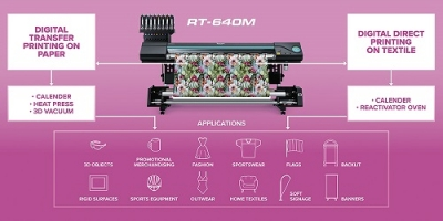 Roland DG: Neuer Multifunktions-Thermo-Sublimationsdrucker Texart RT-640M